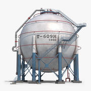 Storage Spherical Tank 3d model