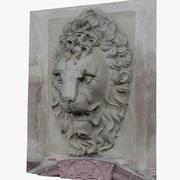 狮子头雕塑 3d model