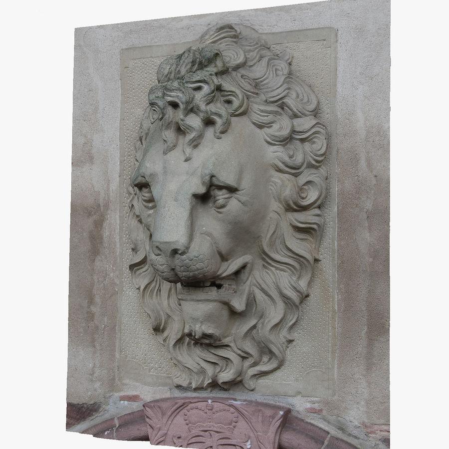 Lion head sculpture royalty-free 3d model - Preview no. 1