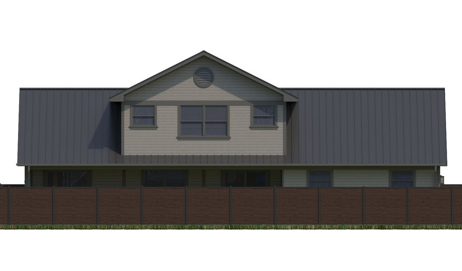 House-111 royalty-free 3d model - Preview no. 11