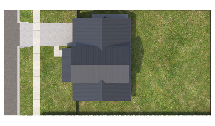 House-111 royalty-free 3d model - Preview no. 2