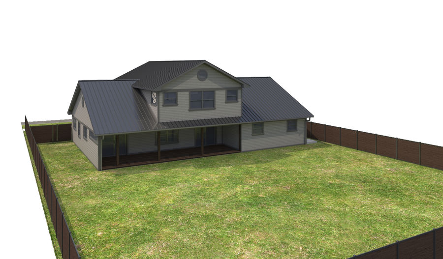 House-111 royalty-free 3d model - Preview no. 8