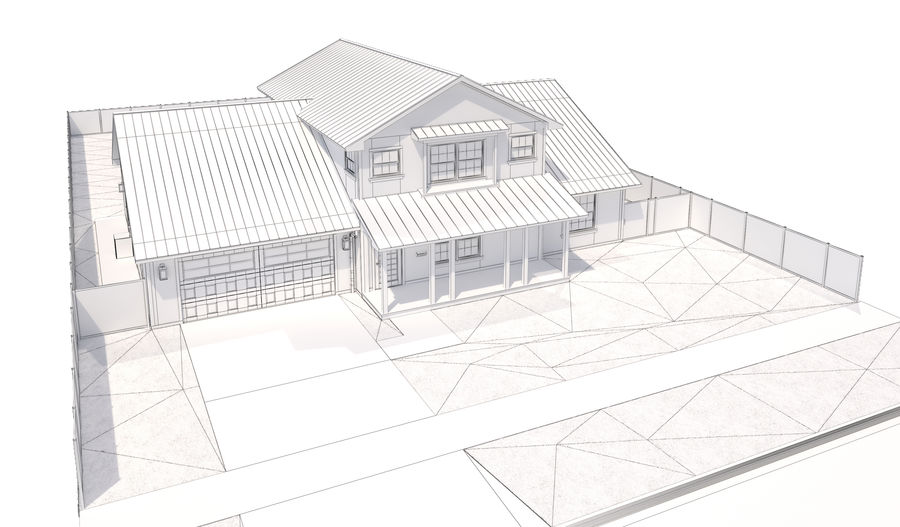 House-111 royalty-free 3d model - Preview no. 16