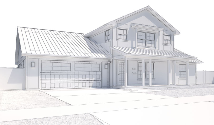 House-111 royalty-free 3d model - Preview no. 14