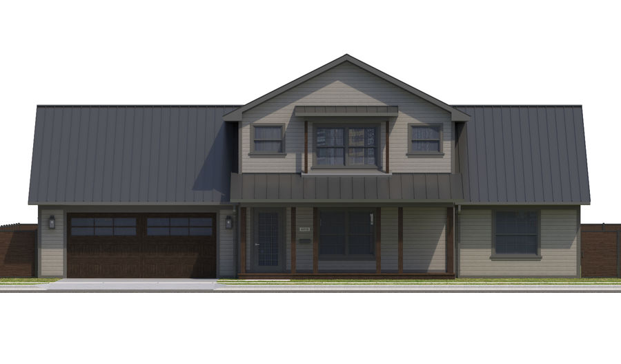 House-111 royalty-free 3d model - Preview no. 9