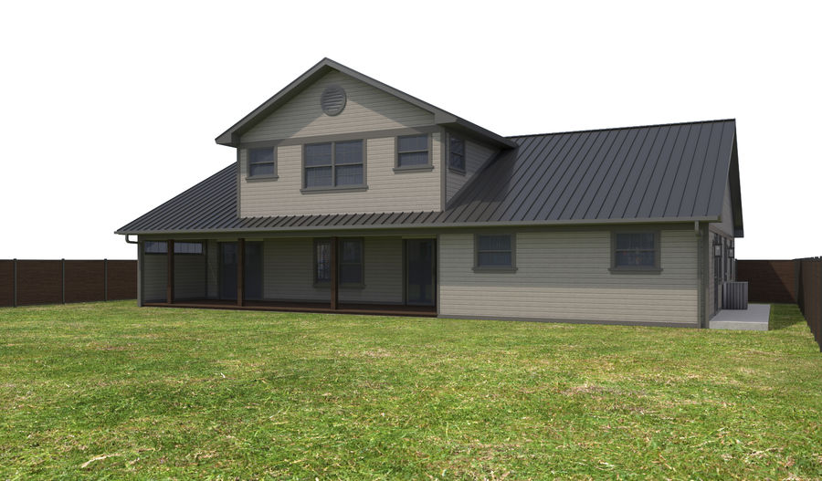 House-111 royalty-free 3d model - Preview no. 6