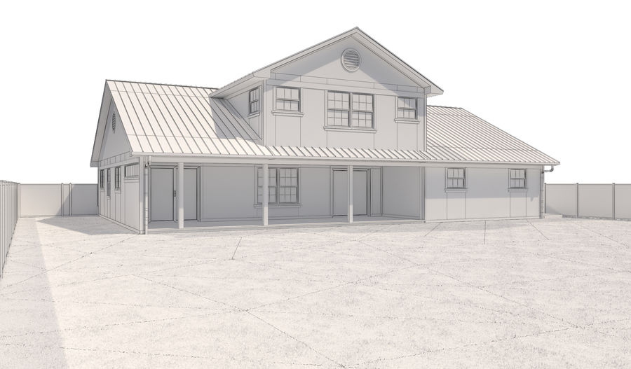 House-111 royalty-free 3d model - Preview no. 15