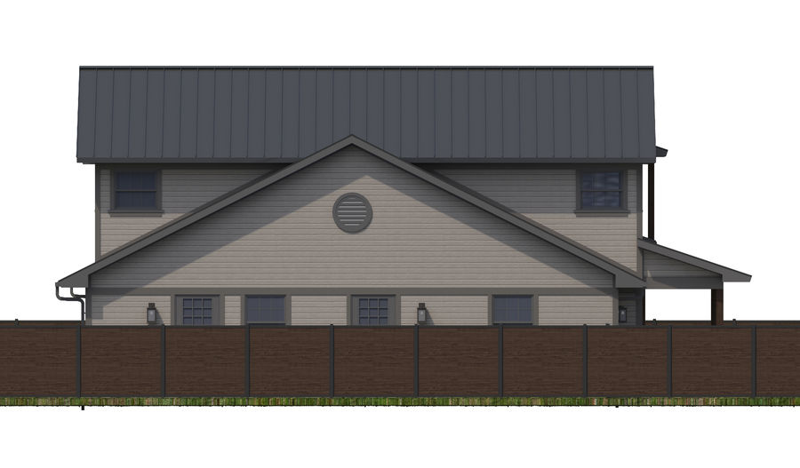 House-111 royalty-free 3d model - Preview no. 12