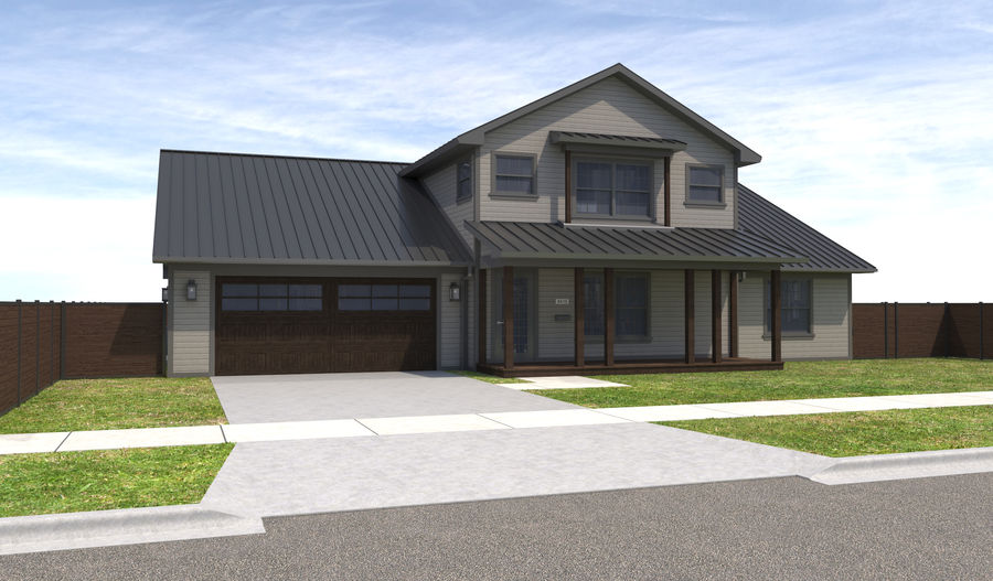 House-111 royalty-free 3d model - Preview no. 3