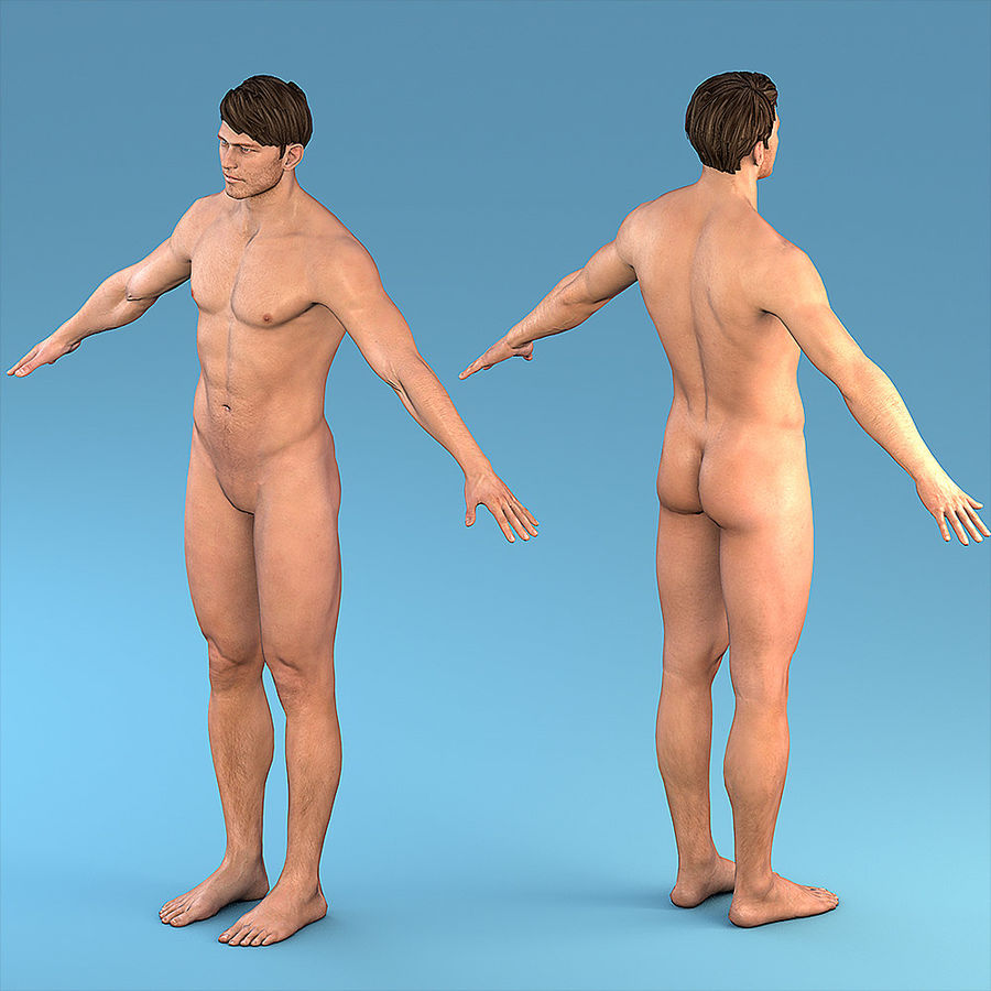 Character Male royalty-free 3d model - Preview no. 1
