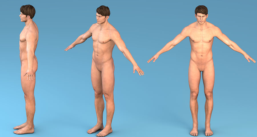 Character Male royalty-free 3d model - Preview no. 10