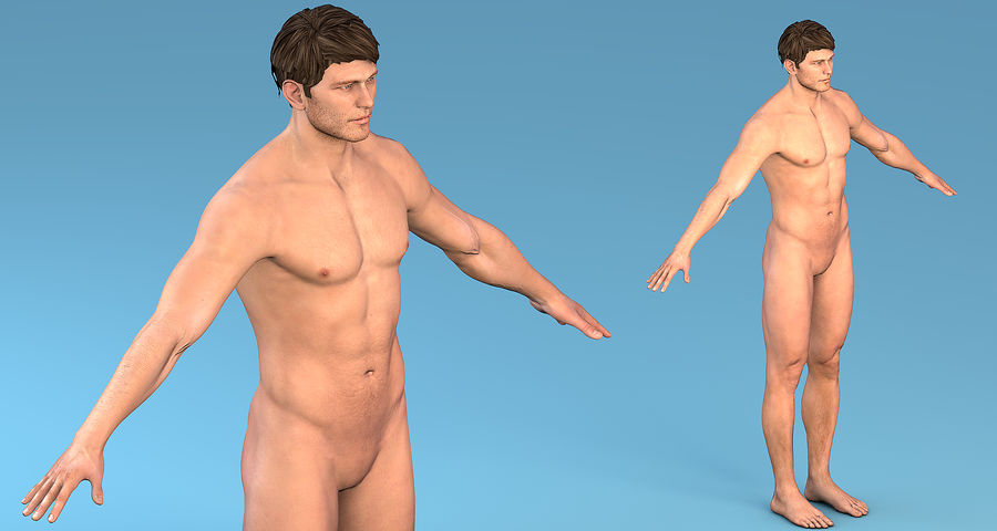 Character Male royalty-free 3d model - Preview no. 2