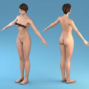 Karaktär Kvinna 3d model