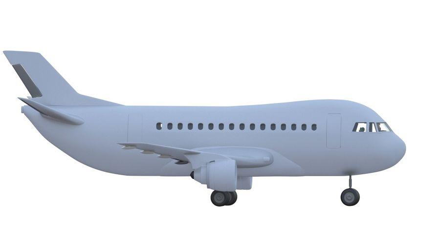 Samolot royalty-free 3d model - Preview no. 2