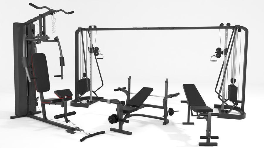 Wyposażenie siłowni royalty-free 3d model - Preview no. 2