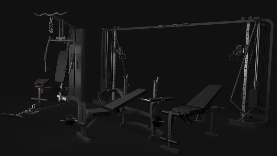Wyposażenie siłowni royalty-free 3d model - Preview no. 4