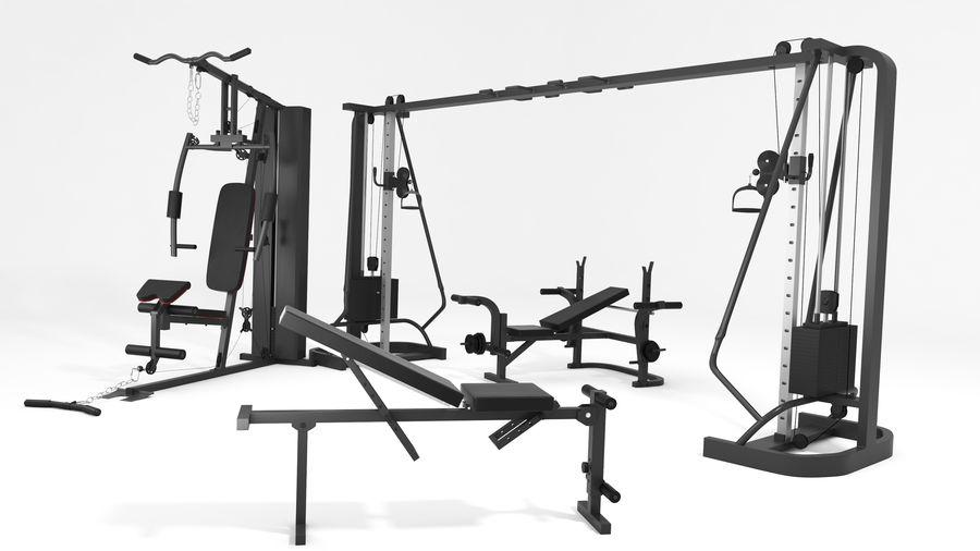 Wyposażenie siłowni royalty-free 3d model - Preview no. 3