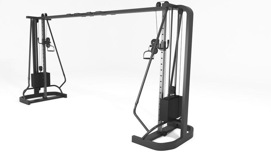 Wyposażenie siłowni royalty-free 3d model - Preview no. 7