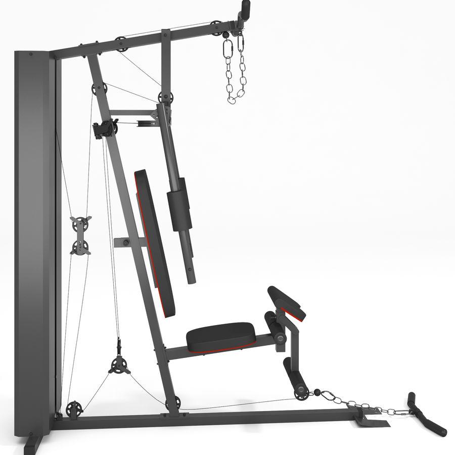 Wyposażenie siłowni royalty-free 3d model - Preview no. 13
