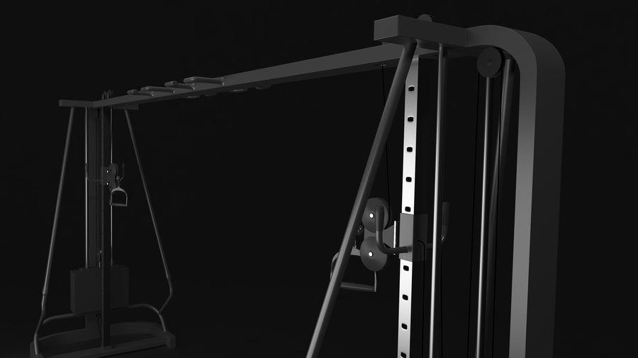 Wyposażenie siłowni royalty-free 3d model - Preview no. 10