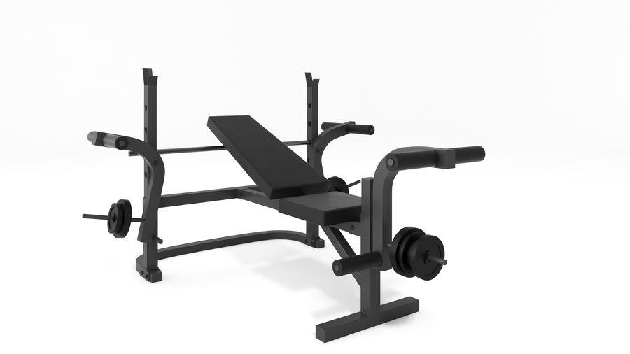 Wyposażenie siłowni royalty-free 3d model - Preview no. 6