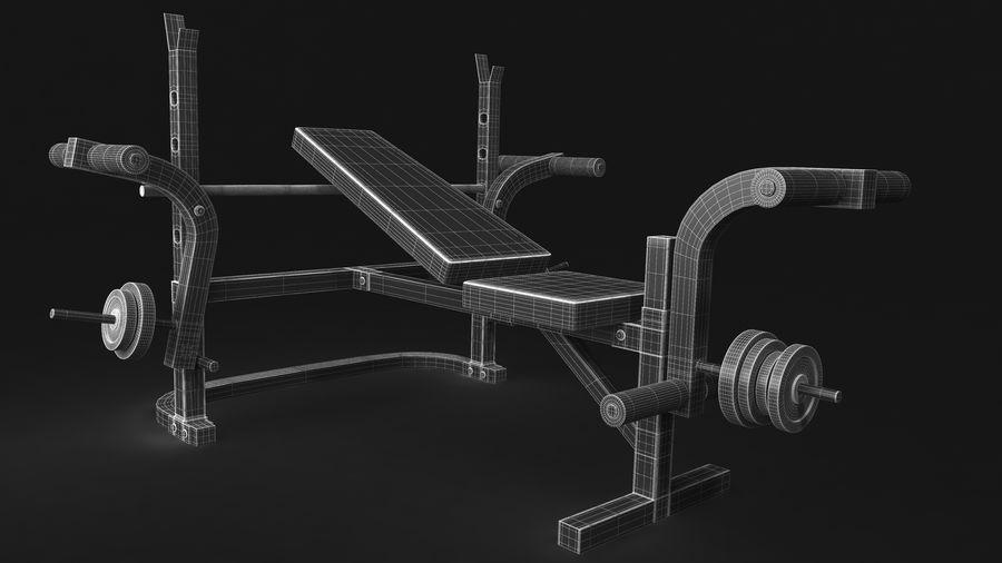 Wyposażenie siłowni royalty-free 3d model - Preview no. 11