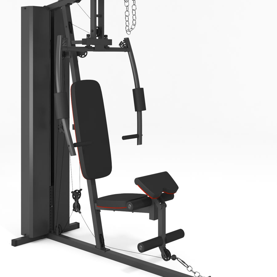 Wyposażenie siłowni royalty-free 3d model - Preview no. 12