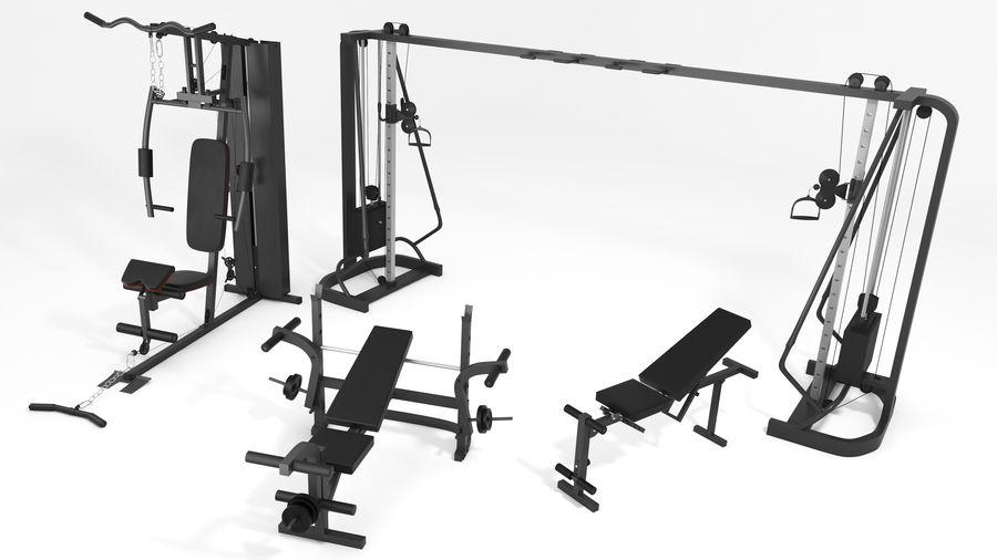 Wyposażenie siłowni royalty-free 3d model - Preview no. 1