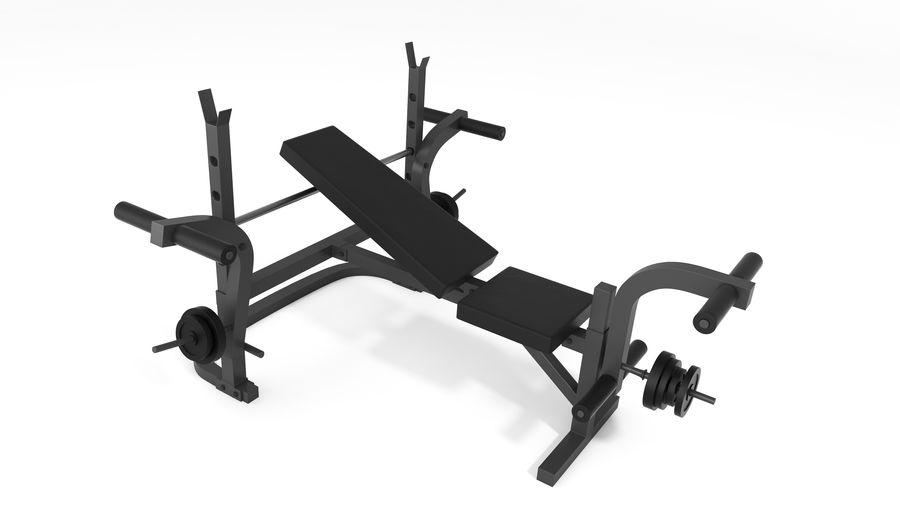 Wyposażenie siłowni royalty-free 3d model - Preview no. 8