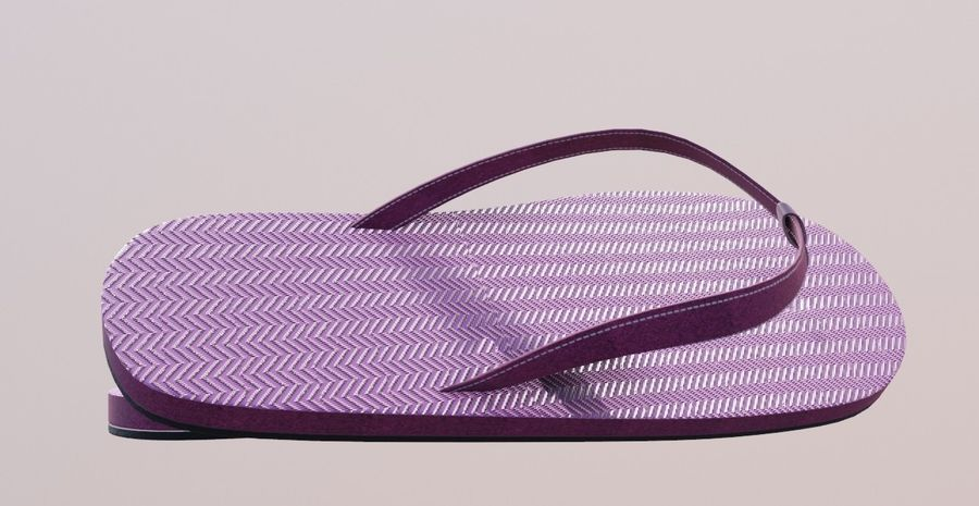 flip flops royalty-free 3d model - Preview no. 1