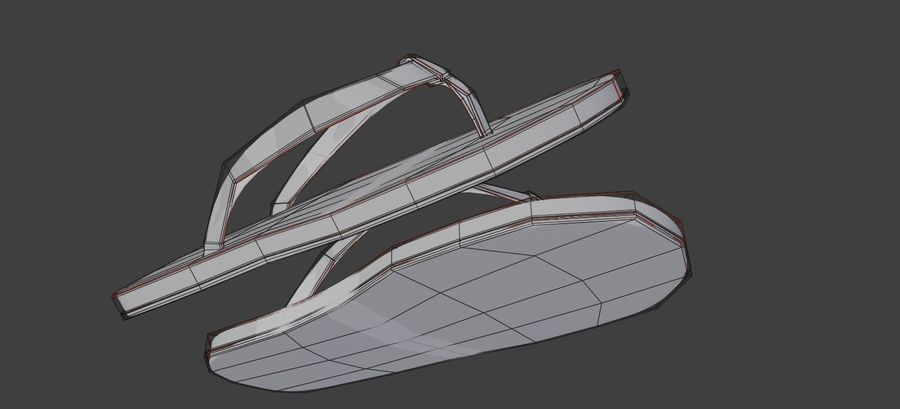 flip flops royalty-free 3d model - Preview no. 8