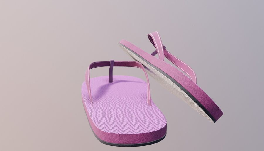 flip flops royalty-free 3d model - Preview no. 3