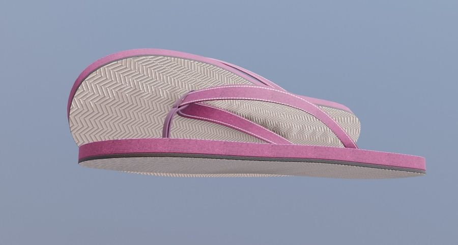 flip flops royalty-free 3d model - Preview no. 2