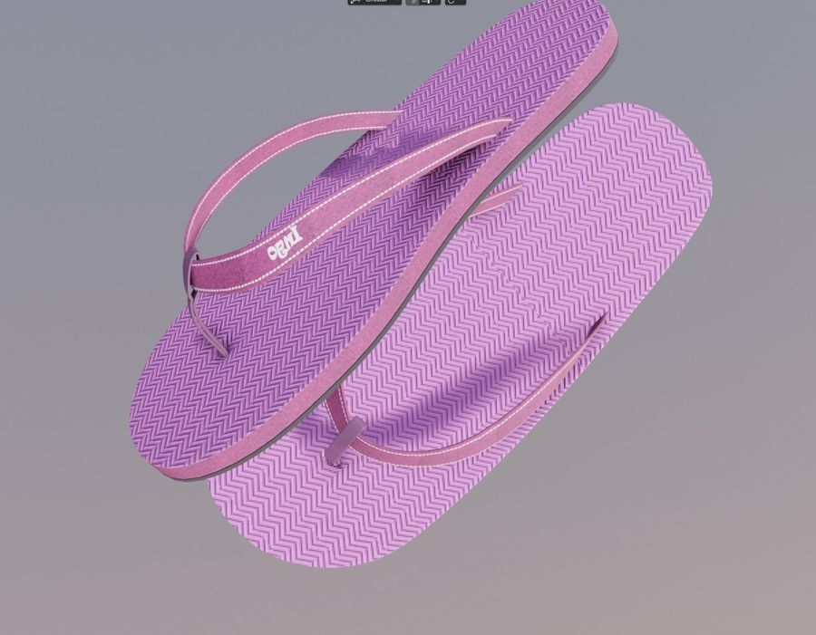 flip flops royalty-free 3d model - Preview no. 4