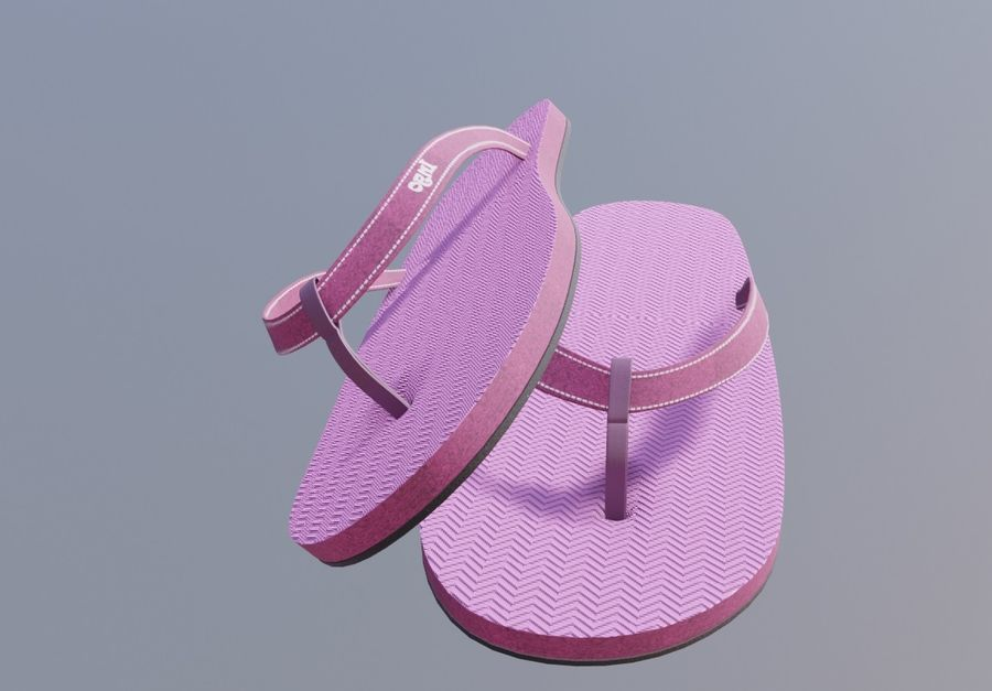 flip flops royalty-free 3d model - Preview no. 9