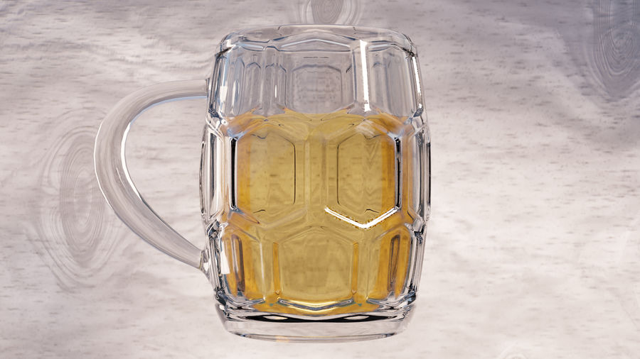 a glass of beer royalty-free 3d model - Preview no. 3