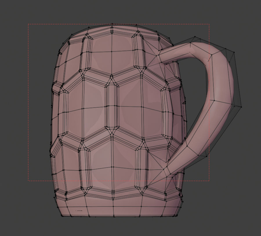 a glass of beer royalty-free 3d model - Preview no. 8