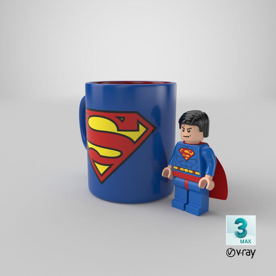 Super Man Mug et LEGO royalty-free 3d model - Preview no. 32