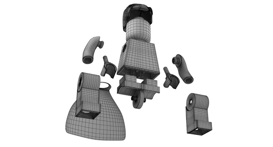 Super Man Mug et LEGO royalty-free 3d model - Preview no. 18
