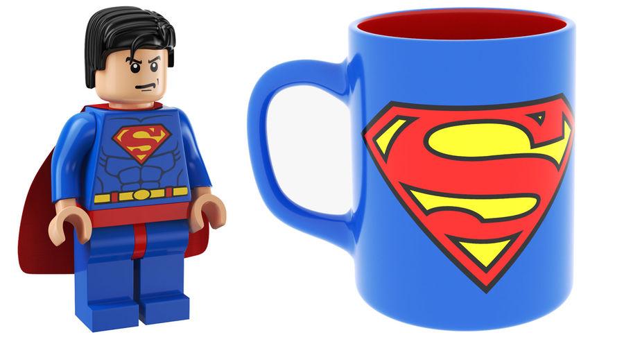 Super Man Mug et LEGO royalty-free 3d model - Preview no. 2