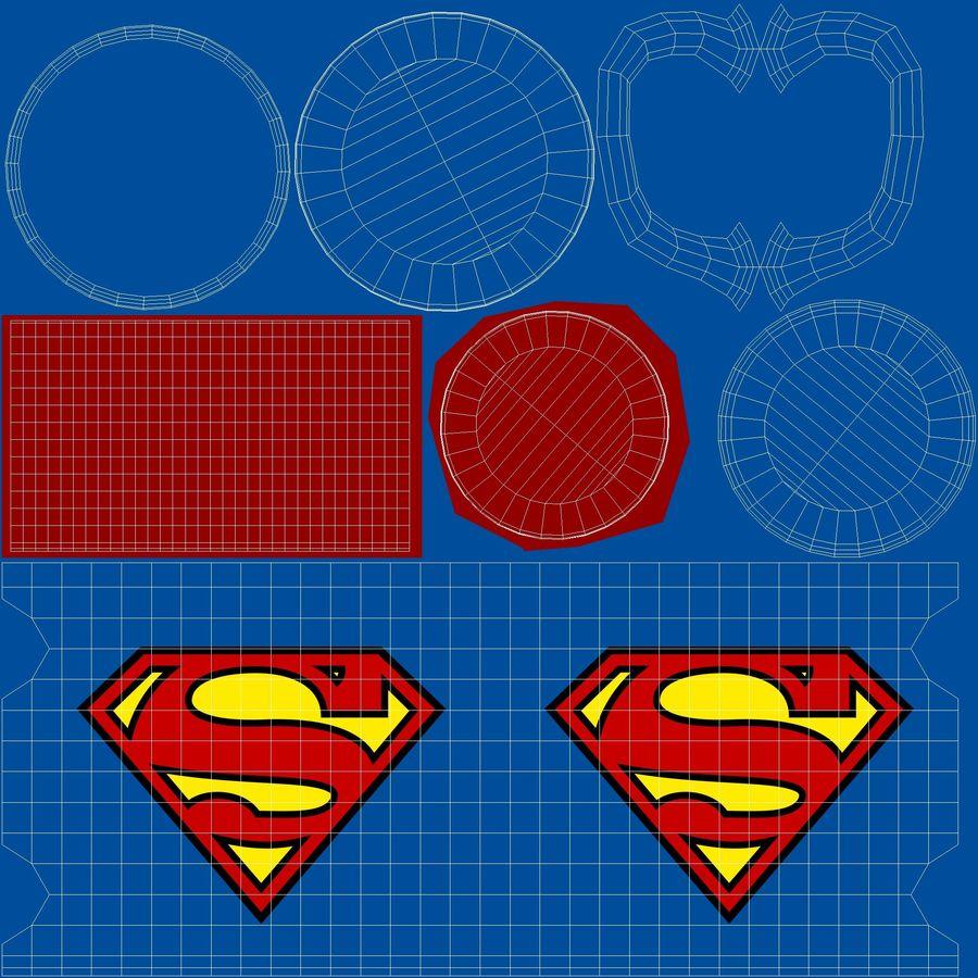 Super Man Mug et LEGO royalty-free 3d model - Preview no. 29