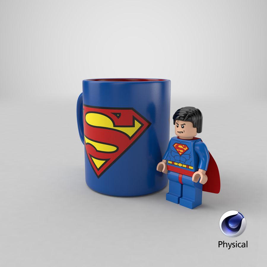 Super Man Mug et LEGO royalty-free 3d model - Preview no. 34