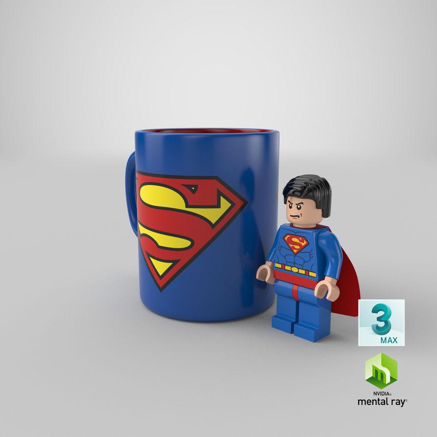 Super Man Mug et LEGO royalty-free 3d model - Preview no. 33