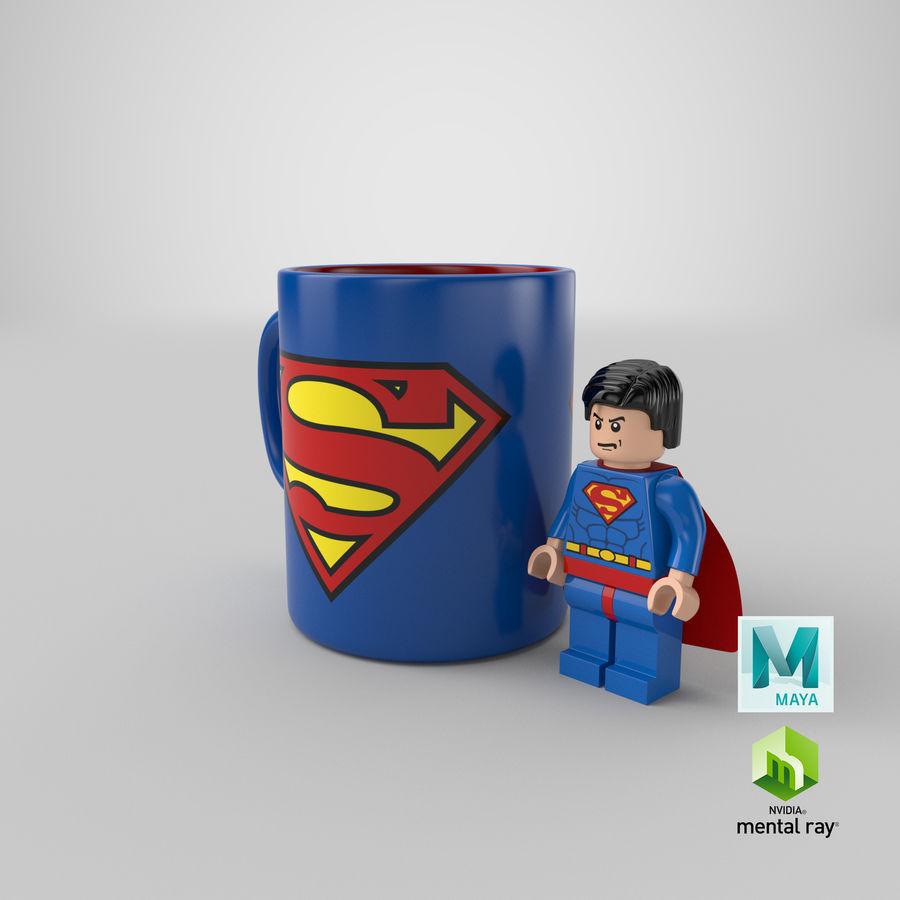 Super Man Mug et LEGO royalty-free 3d model - Preview no. 31