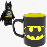 Batman Becher Und Lego 3d model