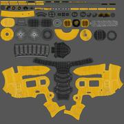 Taladro Eléctrico Amarillo Genérico modelo 3d