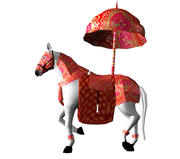 Rigegd Indian Wedding Horse i animowany model 3D 3d model