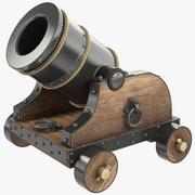 Gammal kanon 3d model