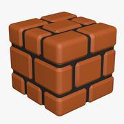 Brick Block Super Mario Assets 3d model