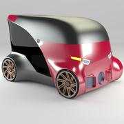 Compact electric concept car 12 3d model